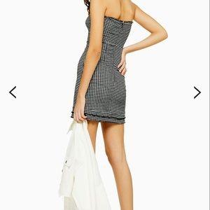 Topshop Dresses - Check Bandeau Mini Dress